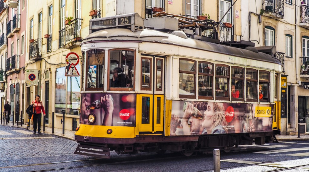Yellow tram in Lisbon, Portugal | 3 Days in Lisbon Itinerary