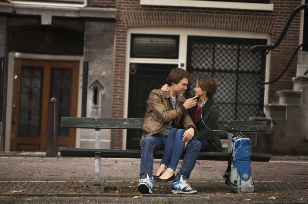 The Fault in Our Stars Bench in Amsterdam, Netherlands 2014 film still