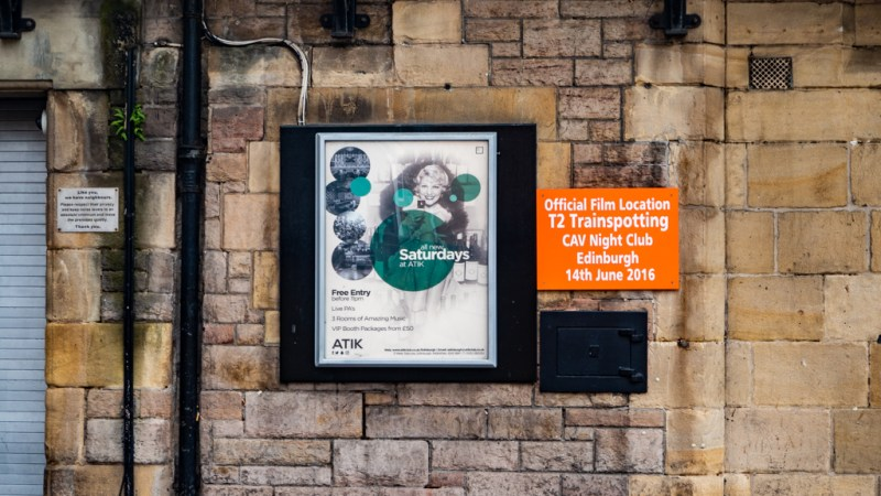 Atik Nightclub in Edinburgh which is a Trainspotting film location