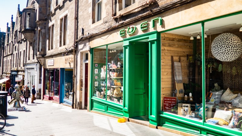 Eden shop on Cockburn Street which is a Trainspotting film location