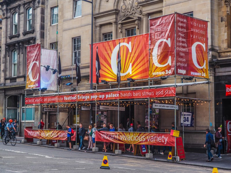 C venues at Adam House on Chambers Street during the Edinburgh Fringe Festival in Scotland, UK