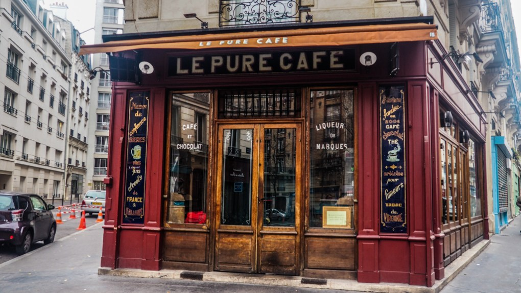 Le Pure Cafe in Paris, France exterior
