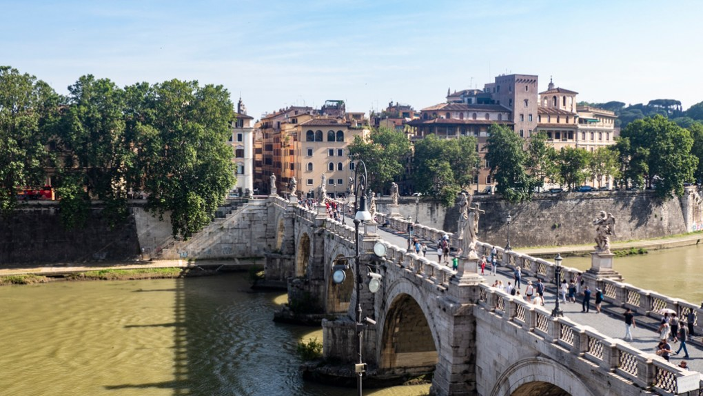 Ponte Sant'Angelo in Rome, Italy