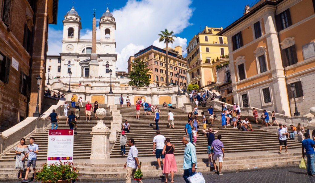 Spanish Steps in Rome, a To Rome with Love filming location