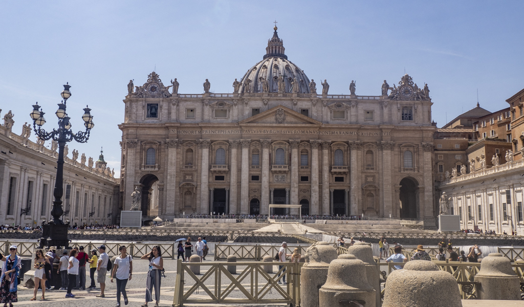St Peter's Basilica, an Angels and Demons filming location in Rome and Vatican City