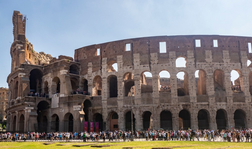 Visiting the Colosseum in Rome, Italy, one of the top things to see in Rome for film lovers