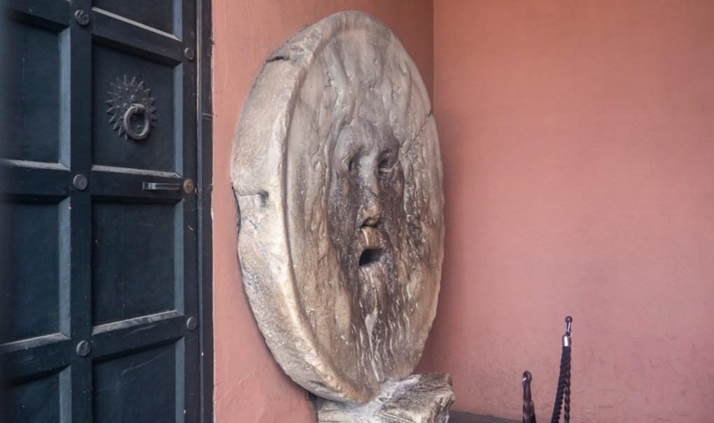 Mouth of Truth in Santa Maria in Cosmedin church in Rome, a Roman Holiday Filming Location