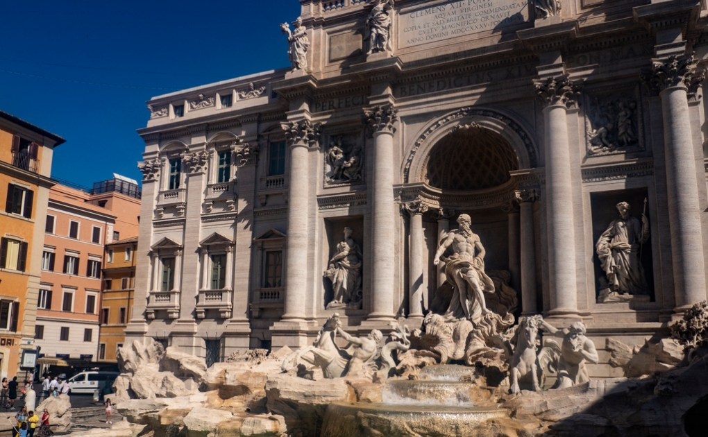 Trevi Fountain in Rome, a Roman Holiday Filming Location
