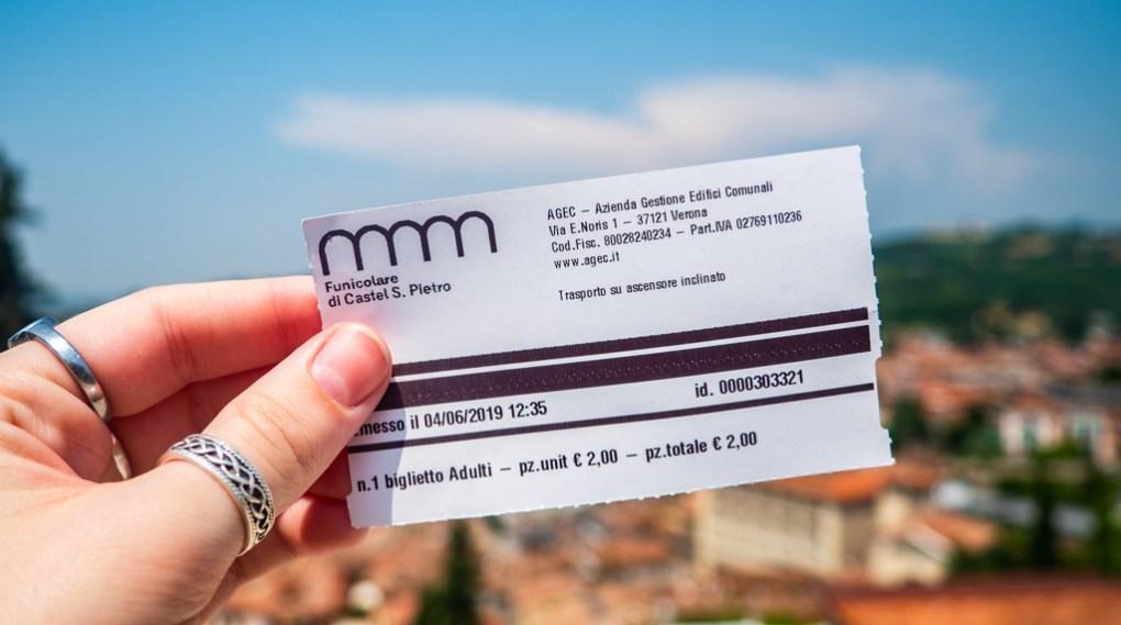 Castel San Pietro ticket in Verona, Italy, 24 hours in Verona