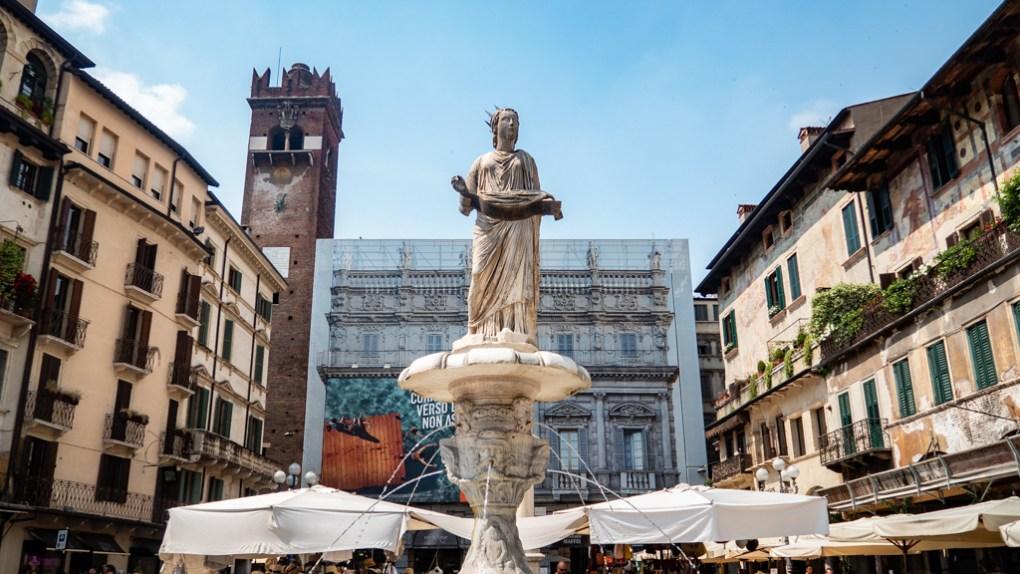 Piazza Delle Erbe in Verona, Italy, 24 hours in Verona