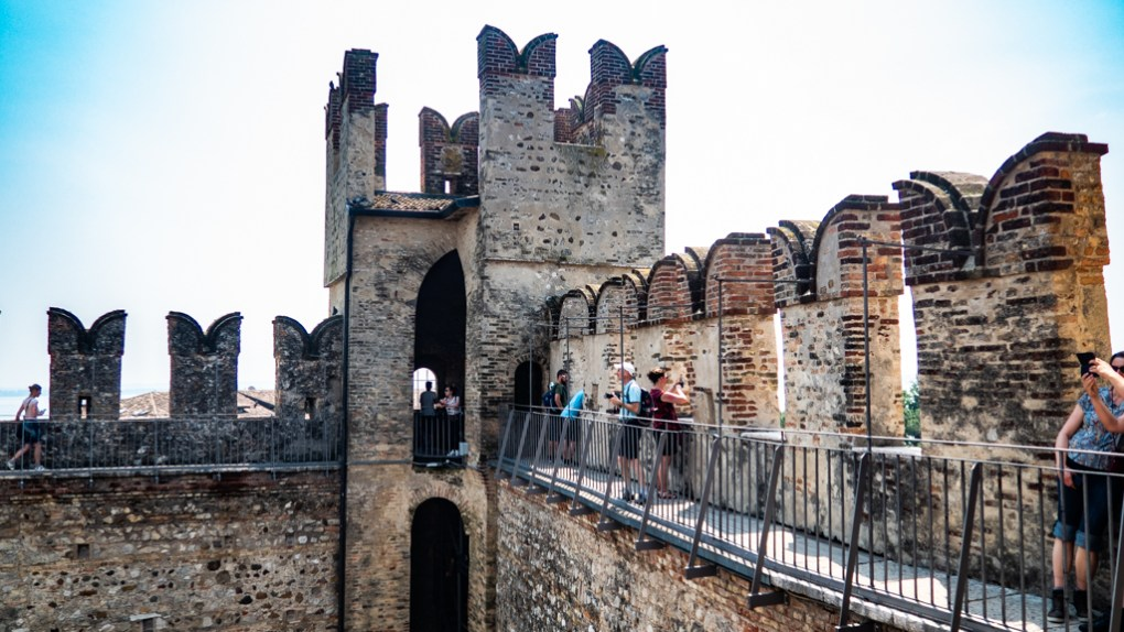 Castle Scaligero in Sirmione on Lake Garda, Italy