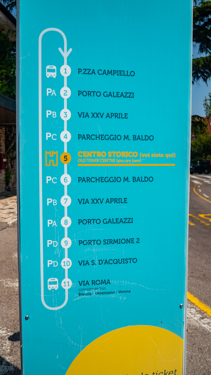 Bus timetable for your Sirmione day trip on Lake Garda, Italy I