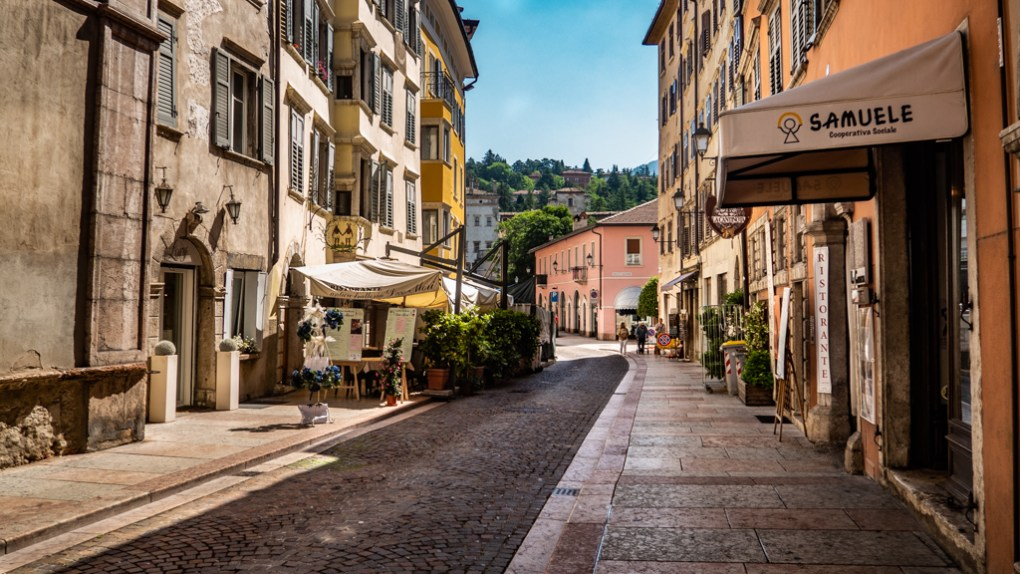 Streets in Trento, Italy