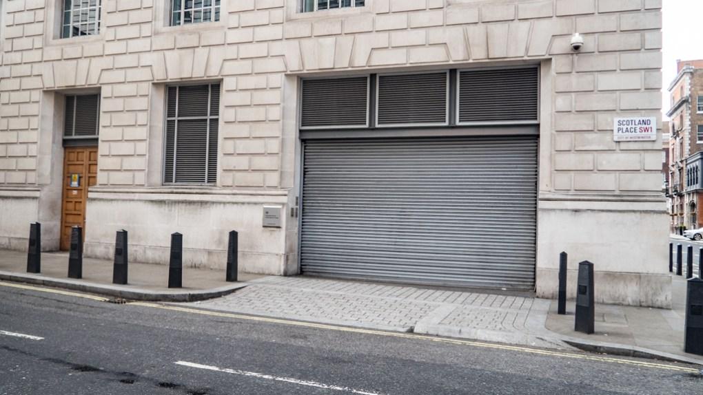 Corner of Scotland Place and Great Scotland Yard, London