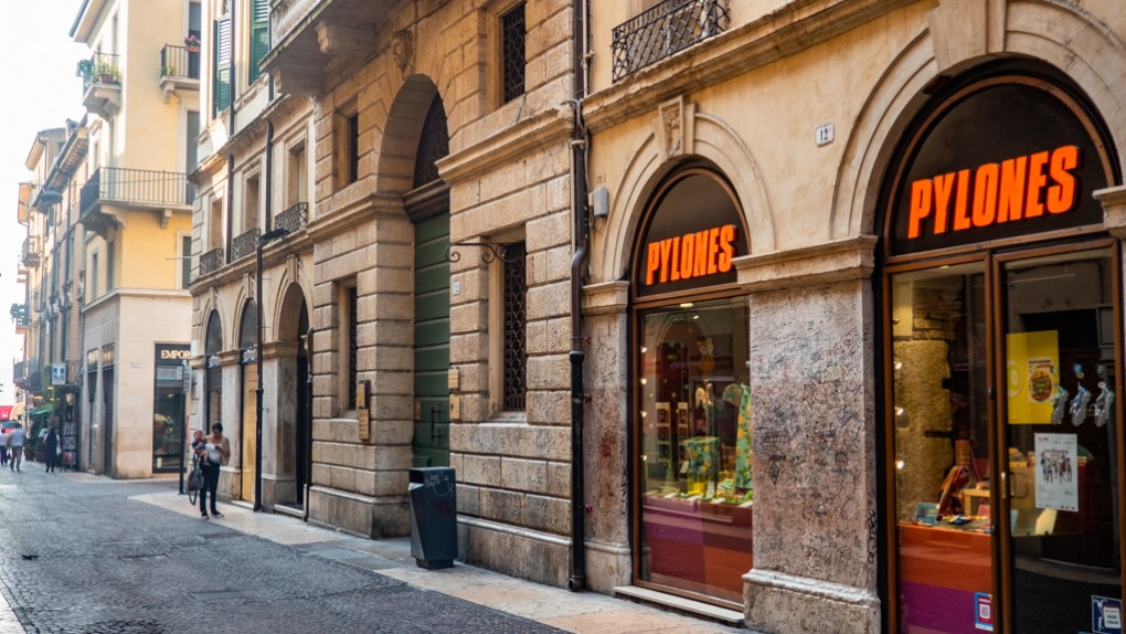 Green door on Via Cappello in Verona, Italy, a Letters to Juliet Filming Location