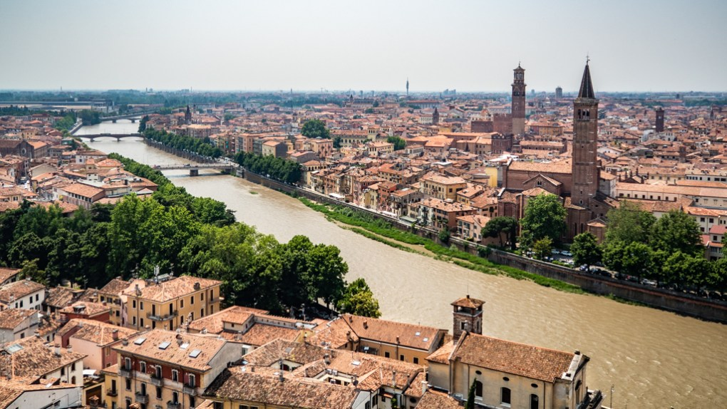 View from Castel San Pietro in Verona, Italy, 24 hours in Verona