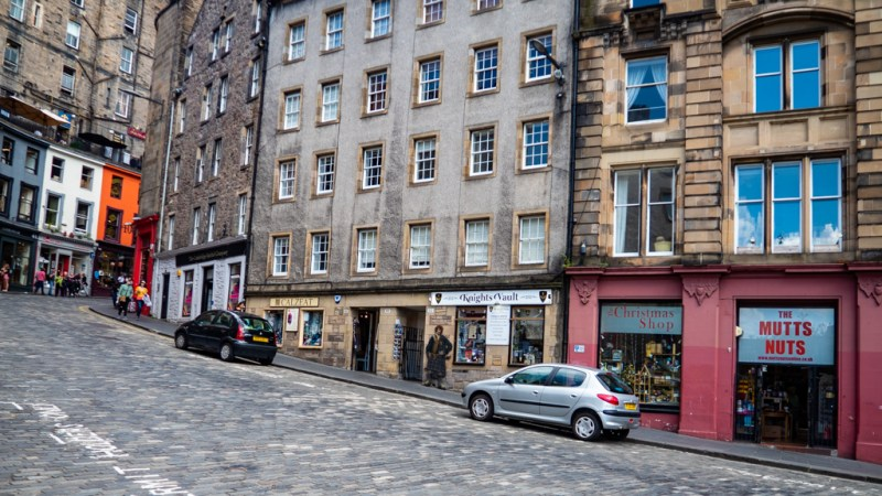 The Christmas Shop on West Bow in Edinburgh, a Filth Filming Location