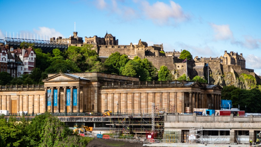 Scottish National Gallery and Princes Street Gardens, a Sunshine on Leith filming location