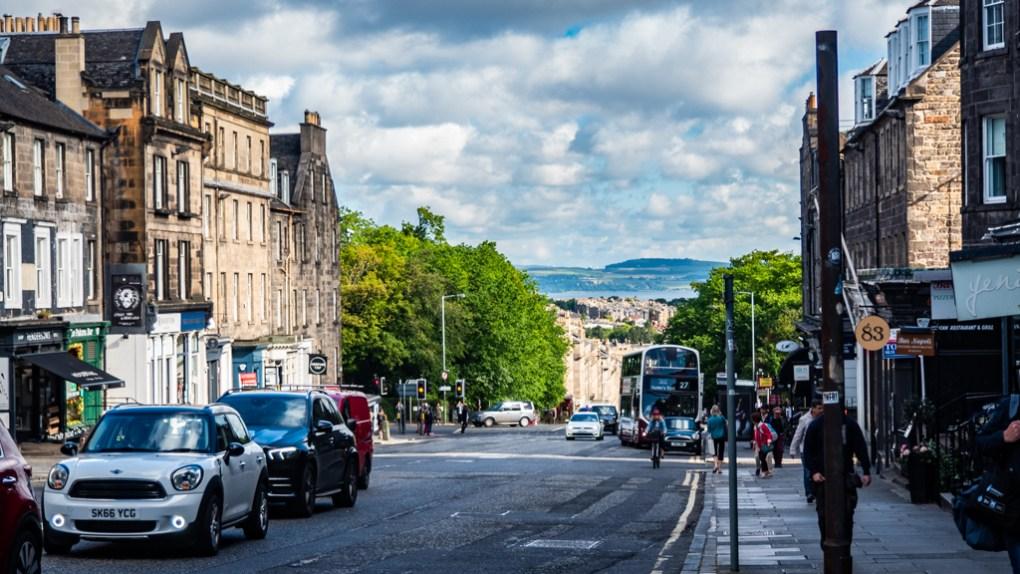 Hanover Street towards Leith in Edinburgh, Scotland, a Sunshine on Leith (2013) filming location