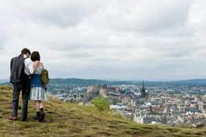 Dexter and Emma on top of Arthur's Seat in One Day (2011)