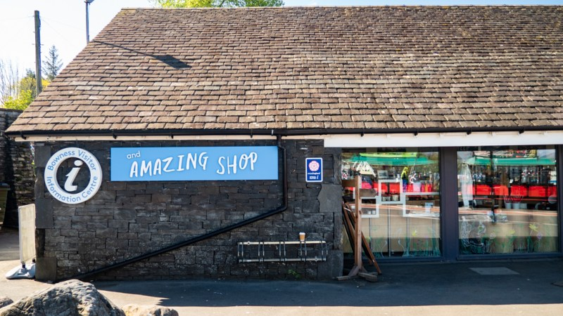 Outside Gift Shop in Bowness-On-Windermere in the Lake District, UK