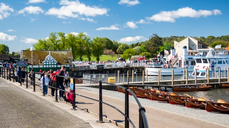 Promenade in Bowness-On-Windermere in the Lake District, UK