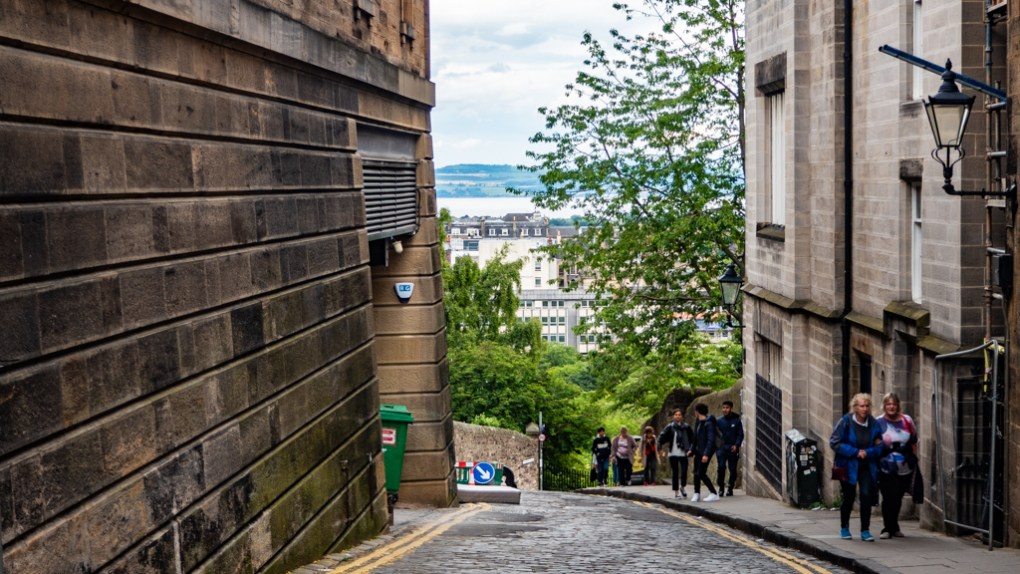 Ramsey Lane in Edinburgh, a Sunshine on Leith filming location