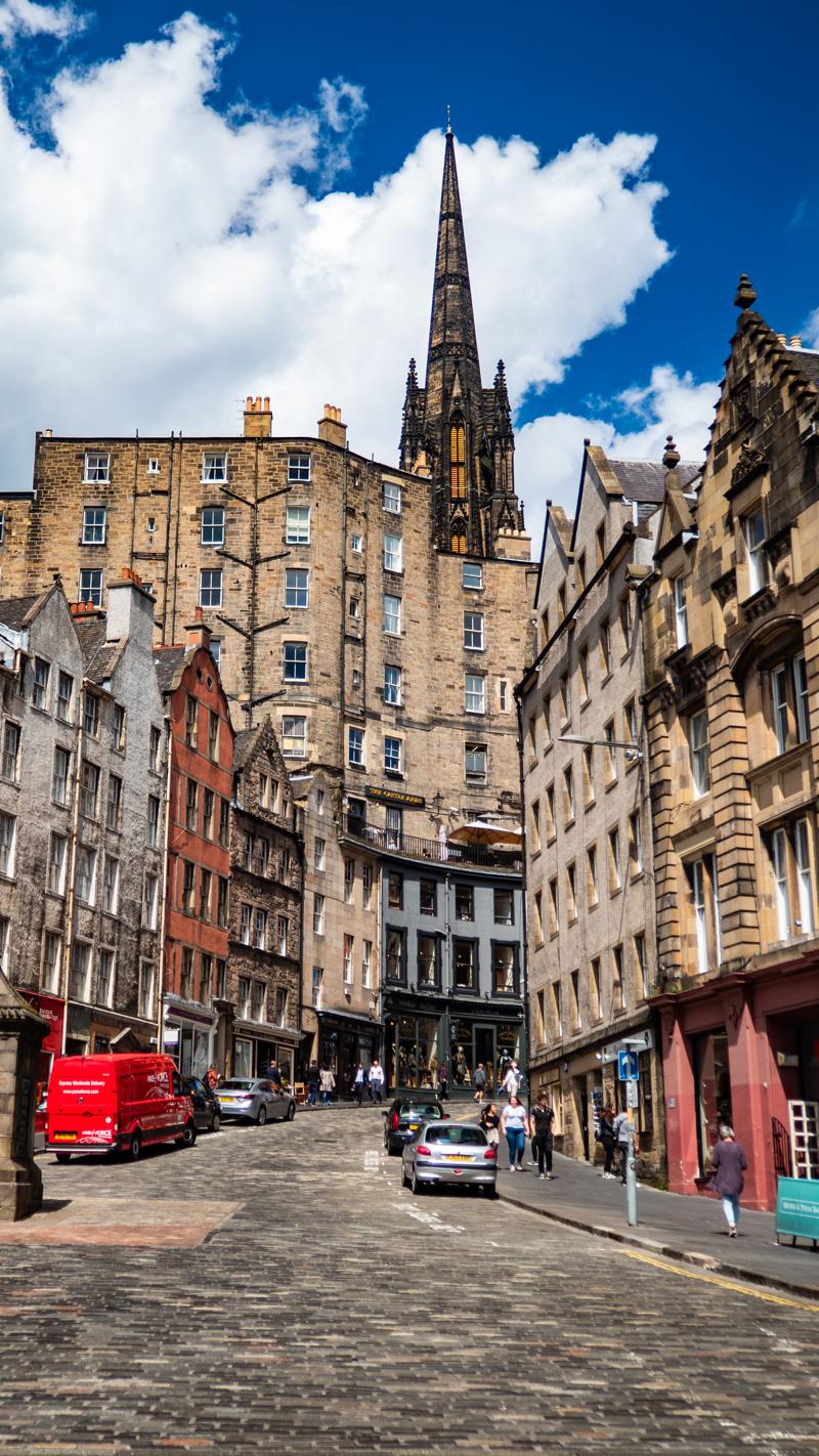 Victoria Street and Grassmarket in Edinburgh