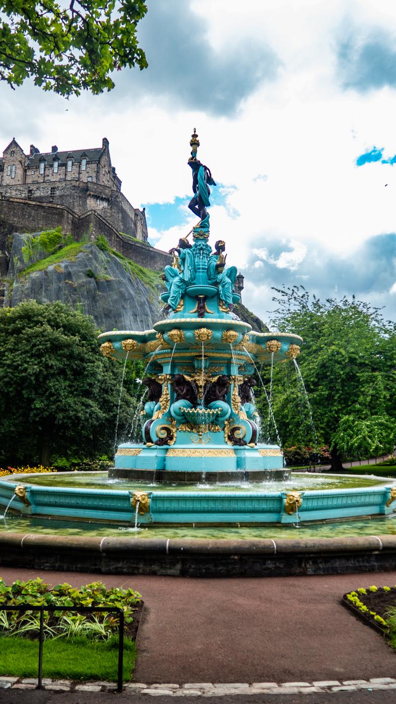 Ross Fountain in Princes Street Gardens in Edinburgh   3 Days in Edinburgh