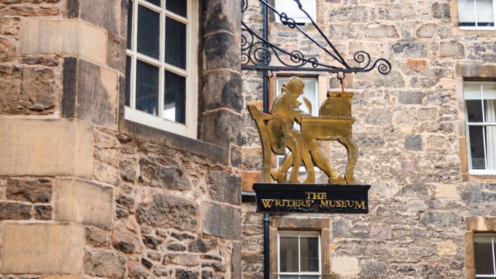 The Writers' Museum sign in Edinburgh   3 Days in Edinburgh