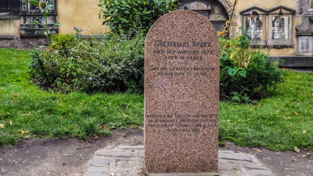 Greyfriar's Bobby grave in Greyfriar's Kirkyard in Edinburgh