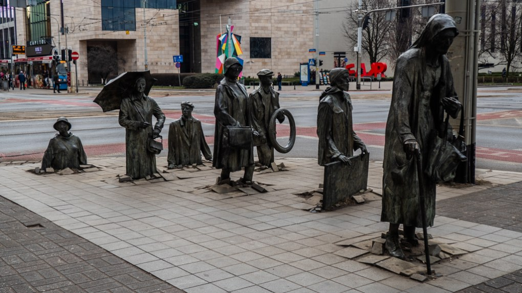 Monument to the Anonymous Passersby in Wrocław, Poland
