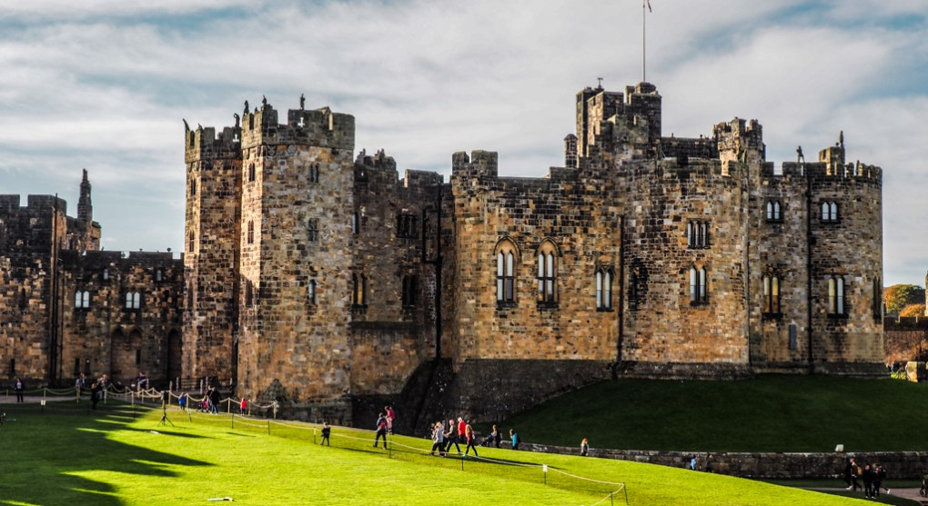The Inner Bailey at Alnwick Castle, a Harry Potter Filming Location in North East England