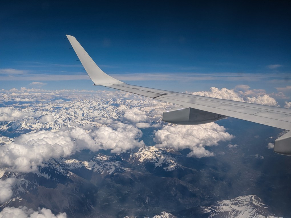Plan wing over the Italian Alps