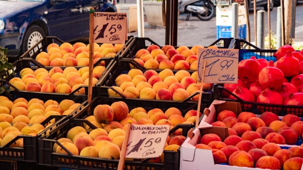 Fruit stall in Mercato del Capo in Palermo, Sicily | 48 Hours in Palermo, Sicily Travel Guide