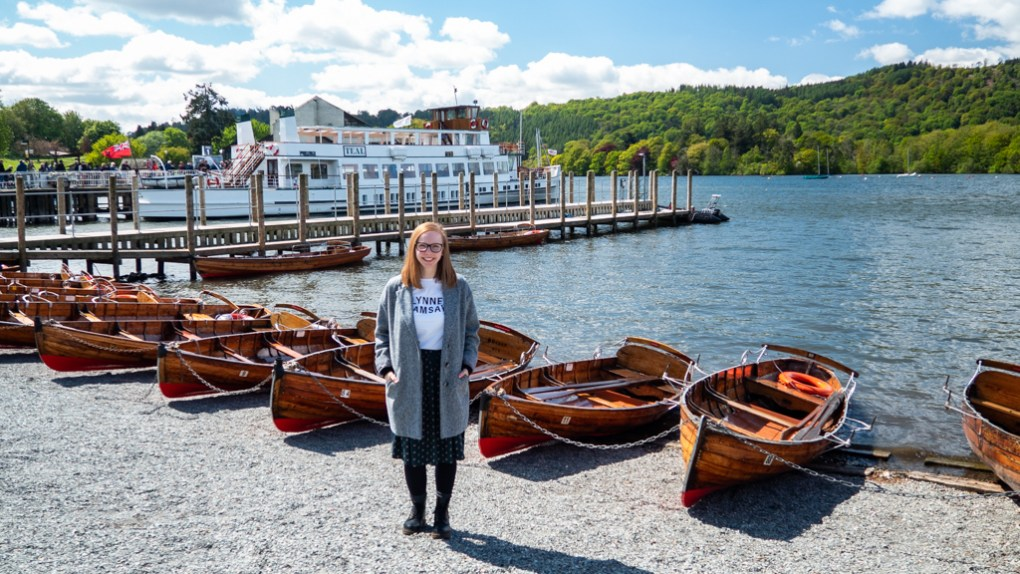 Almost Ginger blog owner in Bowness-on-Windermere