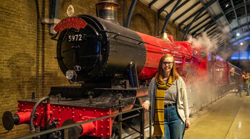 Almost Ginger blog owner at Warner Bros. Harry Potter Studio Tour in London, UK