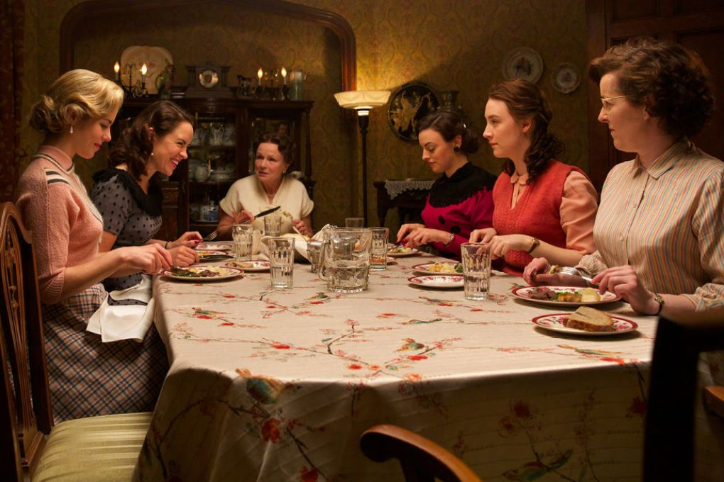 Inside Eilis' Boarding House, one of the Brooklyn filming locations in Montreal, Canada