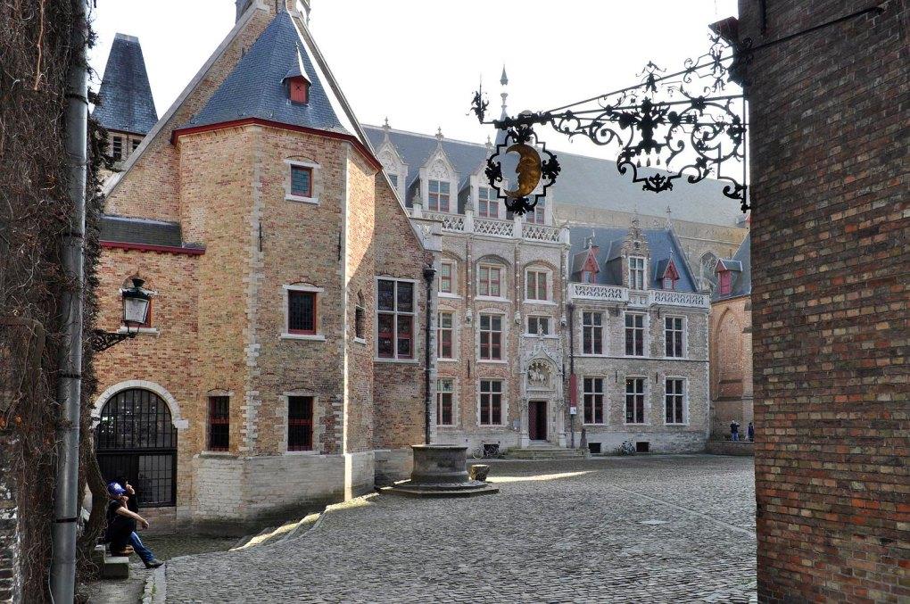 Gruuthusemuseum Courtyard in Bruges, Belgium