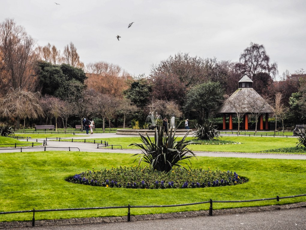 St Stephen's Green Park in Dublin, Ireland