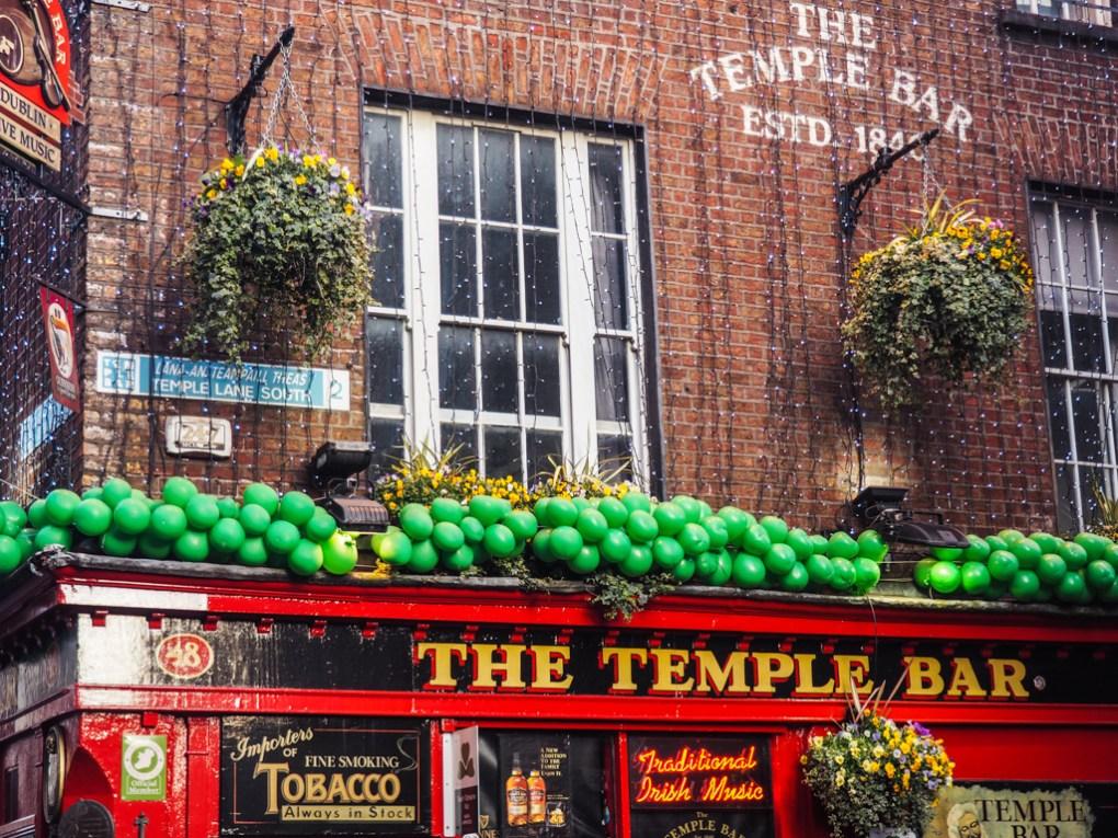 The Temple Bar in Temple Bar, Dublin in Ireland