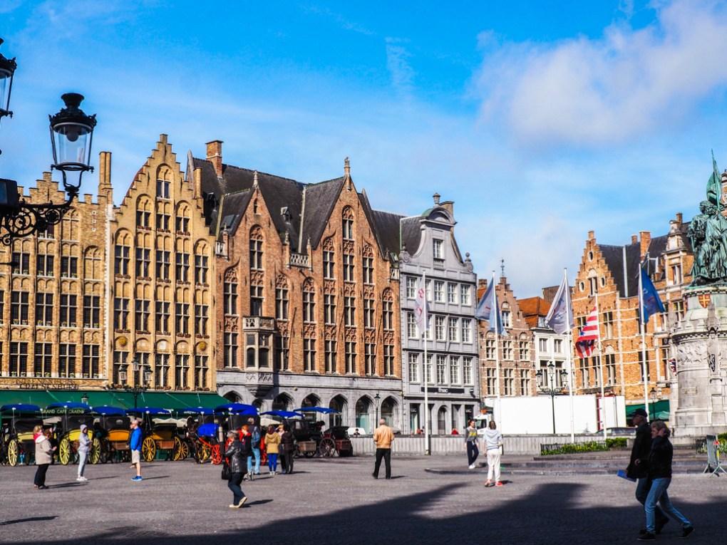 Central Markt in Bruges, Belgium