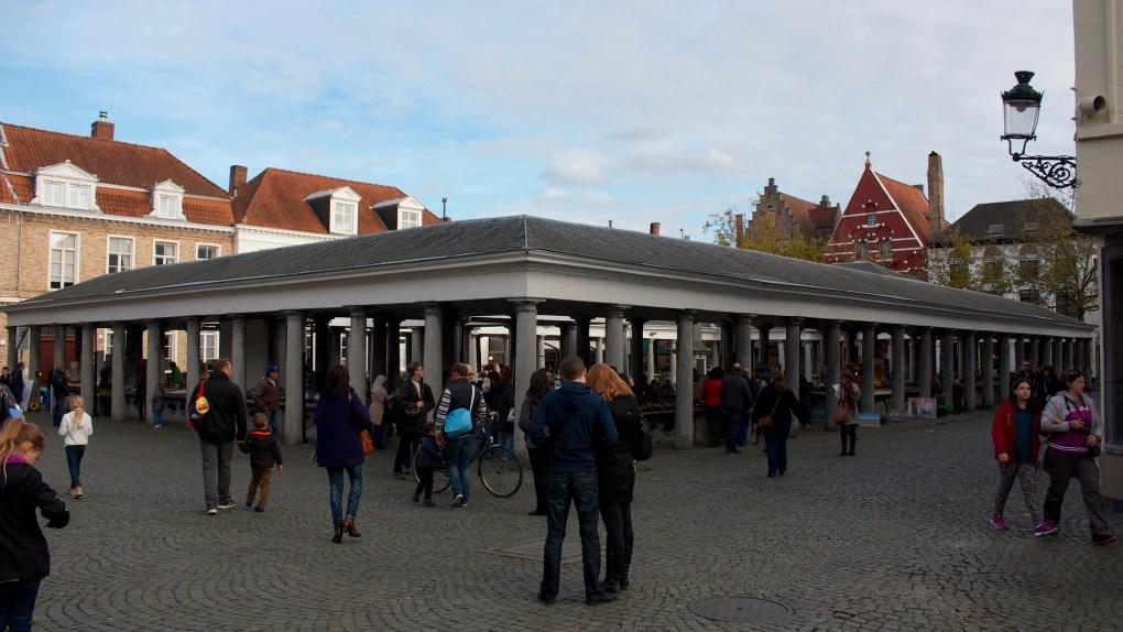 Vismarkt in Bruges, Belgium
