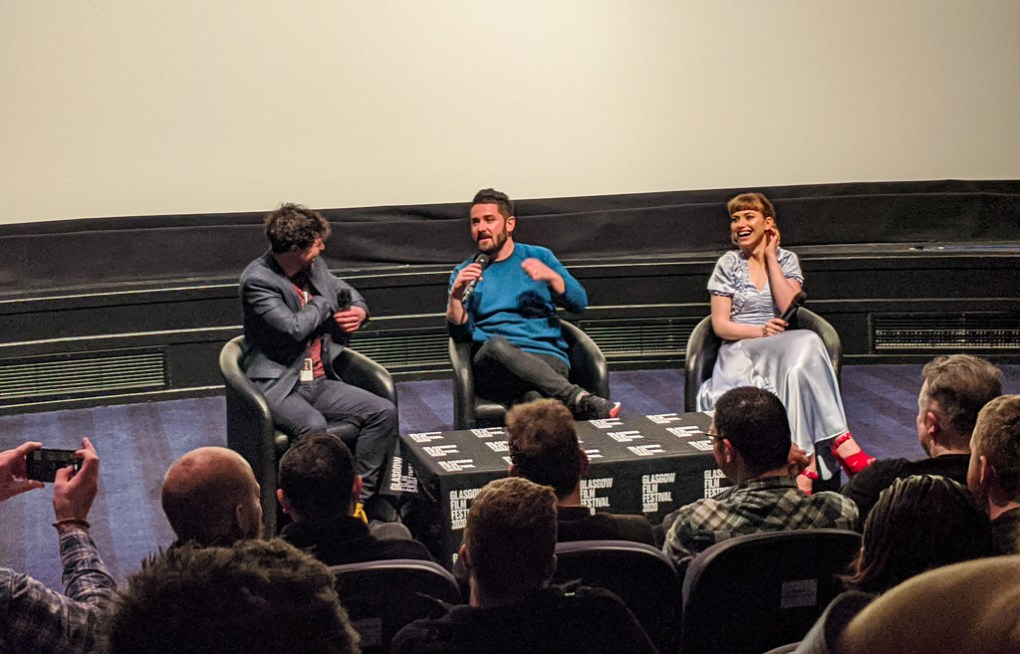 Q&A with Lorcan Finnegan and Imogen Poots after a screening of Vivarium at the Glasgow Film Festival 2020 at the Glasgow Film Theatre in Glasgow, Scotland
