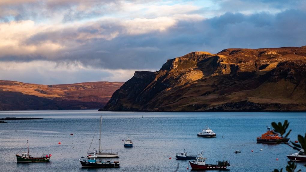 Isle of Raasay from Portree on the Isle of Skye, Scotland