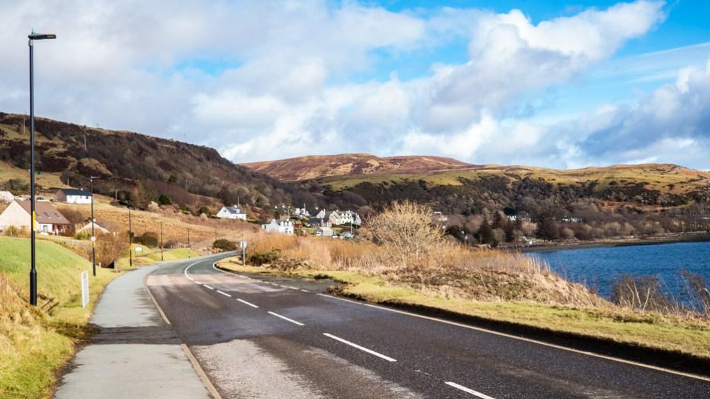 Road to Uig Pier on the Isle of Skye, Scotland