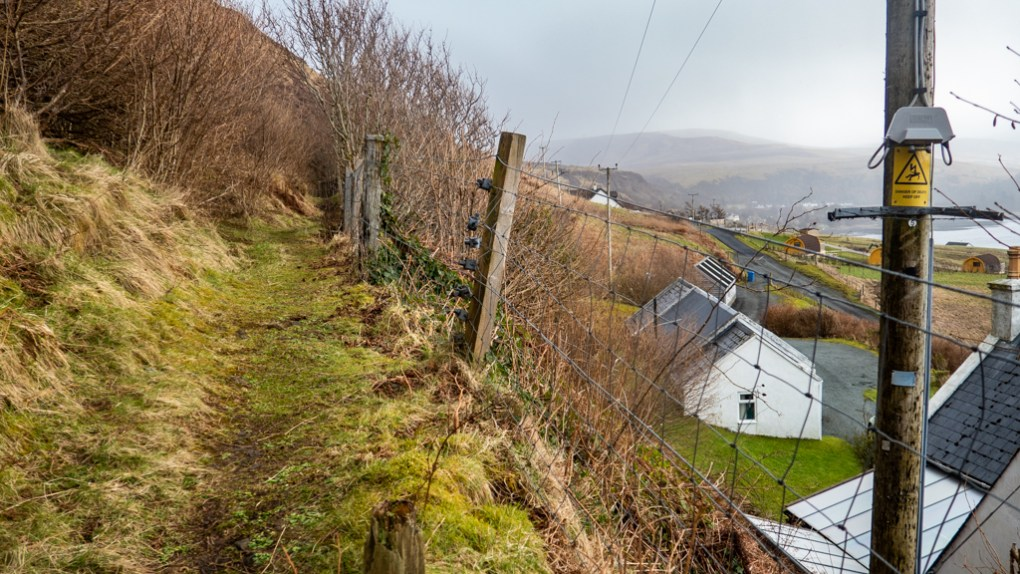 Path up Uig cliff on the Isle of Skye, Scotland