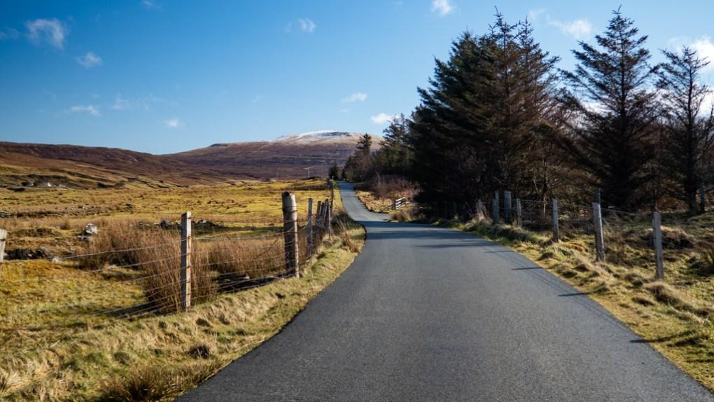 Road to The Fairy Glen in Uig on the Isle of Skye, Scotland