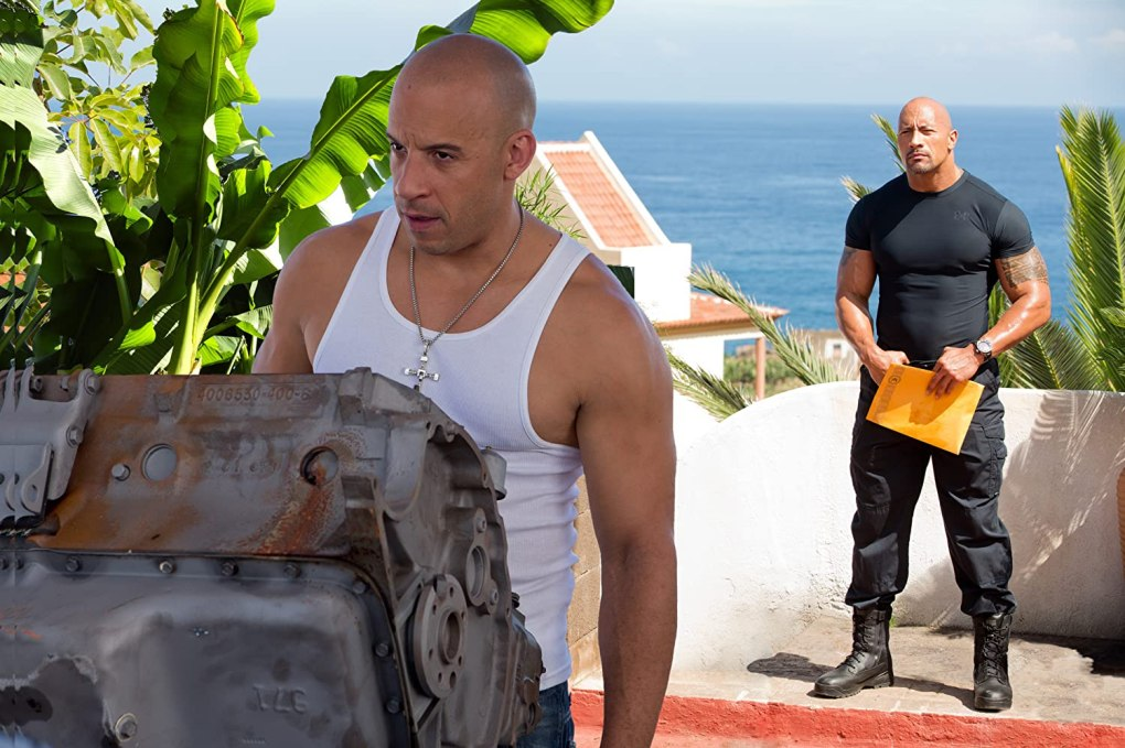 Film still from Fast & Furious 6, a film set in Spain