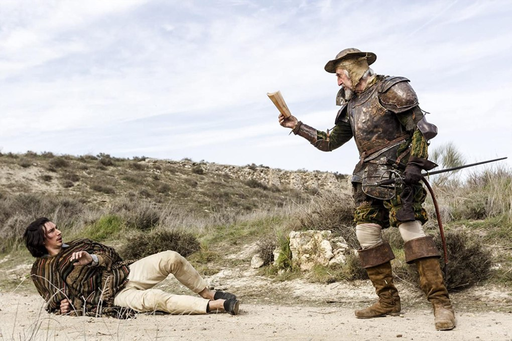 Film still from The Man Who Killed Don Quixote, a film set in Spain